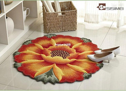Wholesale Sunflower modeling computer chair mat bed blanket round the living room carpet bedroom carpet bedside rugs A041
