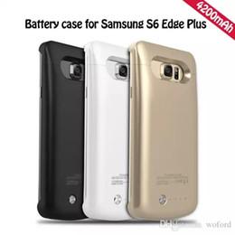 Wholesale Hot Note5 mAh Retour étui avec clip Batterie rechargeable externe pour les cas Samsung Galaxy S6 bord plus Retour couvrir