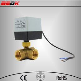 Wholesale DN20 V High Quality Motorized Ball Valve Electric brass ball Valve Motorized fan coil valve