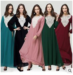 Wholesale 2016 Fashion Muslim Dridesmaid Dresses Sequins Arab Women Robes Long Sleeves Islamic Ethnic Clothing Middle East Casual Dress Junj009