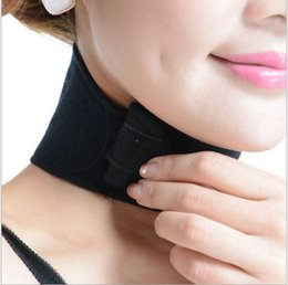 Wholesale Health Care Self Heating Tourmaline Magnetic Neck Heat Therapy Support Belt Wrap Brace Massager best quality free ship