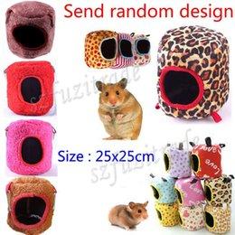 Wholesale 6 Sizes Hot Hammock Rat Hamster Ferret Rabbit Squirrel Hanging Fleece Bed Toy House PAA00001