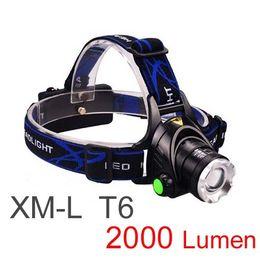 New Arrival,Free Epacket Top Quality 2000 Lumens Headlamp CREE XM-L T6 LED Headlight For Head Lamp Torch LED Flashlight Head Light (V9)