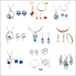 Wholesale a series of kinds of product mix necklace suit navel buckle bracelet packaging sales