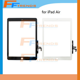 for iPad Air Touch Screen Digitizer White Black Glass Touch Panel High Quality 20pcs lot Free Shipping