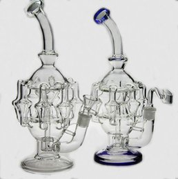 "High quality 11""inches glass bubbler water pipe 8 arm perc 1gear Percolator glass bong oil rig14.4 mm joint have bowl"