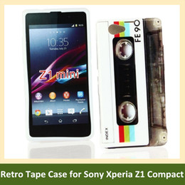 Wholesale Retro Cassette Tape Print Soft TPU Cover Phone Case for Sony Xperia Z1 Compact  Z1 Mini M51w Free Shipping