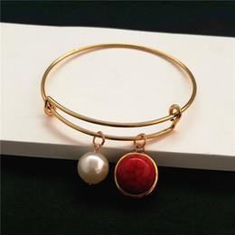 Popular Charm Birthstone Bracelet Jewelry Colors Crystal Stone Expandable Wire Love Bracelets & Bangles Birthday Gift DIY