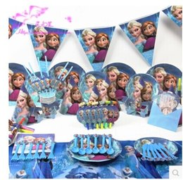 Wholesale 2015 New designs Luxury Kids Birthday Decoration Set cartoon Theme Party Supplies Baby Birthday Party Pack