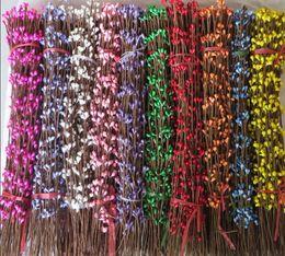 Wholesale 100pcs cm Diy Pretty Pip Berry Stem Foral Arrangemanet Bracelet Wreath Flower