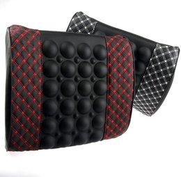 Oreillers de soutien lombaire à vendre-Rouge coussin de coton vin de mémoire voiture de taille coussin de soutien massage de voiture coussin lombaire oreiller tournure coussin