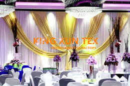 Nice Looking White Color Wedding Backdrop Curtain With Swag Drape 10ft*20ft