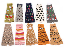 10Colors Baby Christmas Animal Socks Baby Toddler Cartoon Leg Warmers Baby Girls Boys Cotton Leggings Baby Leg Warmer Socks Via DHL