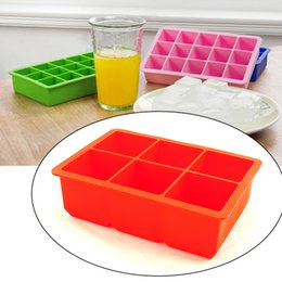Wholesale New Cavity Silicone Drinking Ice Cube Maker Tray Molds Whiskey Cocktails