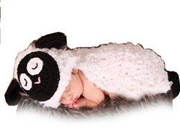 Wholesale MSP Handmade Newborn Baby Infant Photo Photography Props Crochet Crochet Knitted Prop Girl Boy Sheep Lamb Style Hat Cap Diaper Set Month