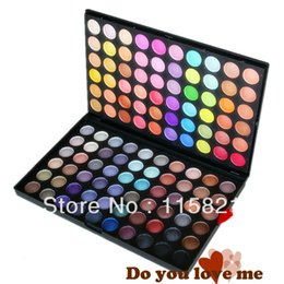 Wholesale Pro120 Full Color Makeup Cosmetic Eyeshadow Palette Eye Shadow with best dry wet powder raw material