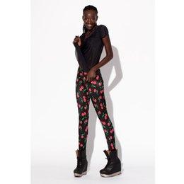 Wholesale 2015 New Leggings For Women Digital Printing Black Apple Printing Elastic Supernova Pants