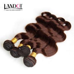 Wholesale Les cheveux humains marron clair tissent des paquets de couleurs Brésiliens brésiliens de l Inde Malaisien Suédois Russe Suiveur du corps Virgin Remy Hair Extensions A