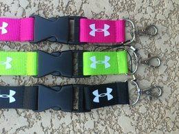 Wholesale Hot X Under Armor UA Fashion Clothing Lanyard Detachable Keychain iPod Camera Strap Badge Cell