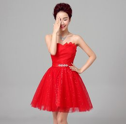 Shanghai Story Red prom dresses party Dresses Satin Bride dress vestido coctel Short dress for party robe de cocktail
