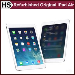 Wholesale Refurbished Original iPad Air iPad5 st Generation iOS A7 quot Apple Tablet GB GB GB WIFI Warranty Included Silve and Grey DHL