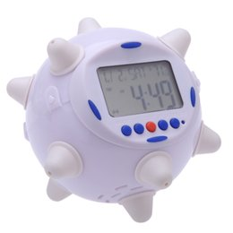 Wholesale LED Jump Clock with Rotary Musical Alarming Alarm Calendar Thermometer Desktop Table Clocks Despertador dandys