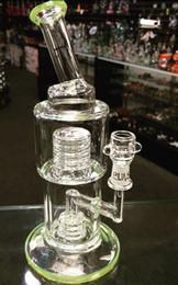 Plates-formes de verre hitman en Ligne-Verre vert bongs Hitman Glass Sundae piles Verre pétroliers tuyaux d'eau avec 14,4 mm joint mâle