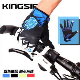 Wholesale Touch Riding Full Finger Gloves Spring Autumn Thickening Silicone Non Slip Earthquake Cycling Glove Nylon Touch Finger Gloves