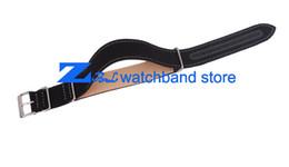 Promotion bracelet en cuir véritable atches sangle Accessoires watchbands toile, bas nylon watchband Watchband est en cuir véritable accès de montre 20mm 22mm sangles 18mm soft ...