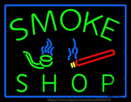 """Hot Smoke Shop Bar Neon Sign Real Glass Tube Sign Store Display Advertisement Sign LED Neon Sign 17""""X14"""""""