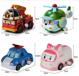 Wholesale In Stock EMS Robocar Poli Toy Robot Car Transformation Toys New Toy Best Gift for little Girl Boy South Korea Thomas toys