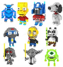 Wholesale LOZ Diamond Building Blocks Cute Giant Panda Monster Star Wars Jobs Keroro Transformer Snoopy Model Educational Toy Gift DIY Blocks