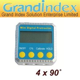 Wholesale Digital Bevel Box Inclinometer Angle Gauge Meter Protractor Magnets Base STDJT Q