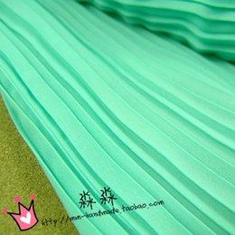 Wholesale Crushed Chiffon Dresses - The new fabrics Mint green organ pleated chiffon crushed pearl yarn Candy color big dress fabrics