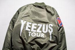 Wholesale Fall KANYE WEST YEEZUS tour MA1 jackets limit edition Men s flight jacket MERCH BOMBER MA Baseball shirt