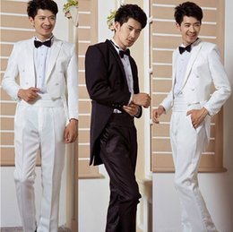Wholesale Men tuxedo suits host magician performing a marriage ceremony costume ceremony to celebrate the best man suit swallowtail suit