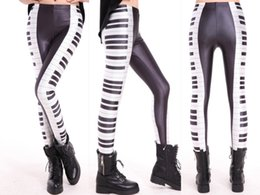Wholesale Women leggings with piano designs nightclub fashion sexy women leggings antiseptic absorbent leggings polyester spandex