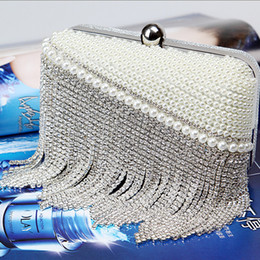 Factory Retaill Wholesa brand new handmade adorable beaded diamond evening bag clutch with satin for wedding banquet party porm(More colors)