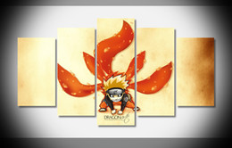 Wholesale P3027 Naruto Chibi tails Poster home decor stretched framed canvas print art HOT gallery wrap home wall decor handmade print