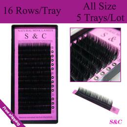Wholesale All sizes high quality eyelash extension mink individual eyelashes false eyelashes natural eyelashes fake eyelashes