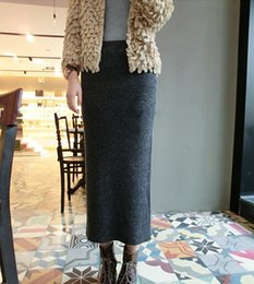 Free Shipping 2015 New Fashion Autumn And Winter Thick Thread Stretch Red Skirts Long Maxi Skirts hot sale