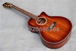 Wholesale AAA Solid KOA strings cut away classical K24 Acoustic electric vintage Guitar with B band pickup