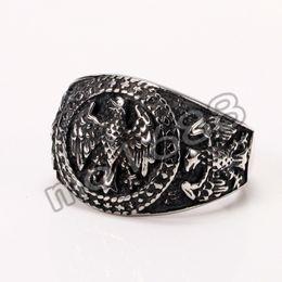 Vintage Black Eagle Punk Rock Stainless Steel Biker Ring Size 7-13