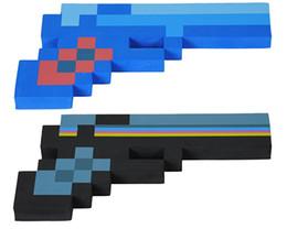Wholesale Minecraft Foam Diamond Pixelated Gun Weapons EVA Colors Toy New Christmas Cartoon Toys For Kids Winter Children Baby Free