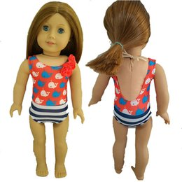 Wholesale Doll Clothes Fits quot American Girl Doll Beach SwimSuit Clothes Swimwear Floral Bathing Our Generation Doll Outfit