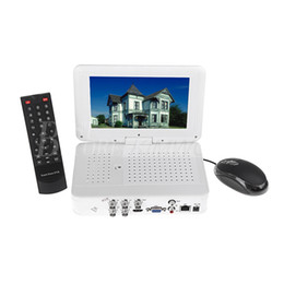 Wholesale 4ch Channel Full D1 H All in one CCTV DVR Embedded quot LCD Monitor Support HDMI G P2P Cloud NVR zmodo cctv System S231