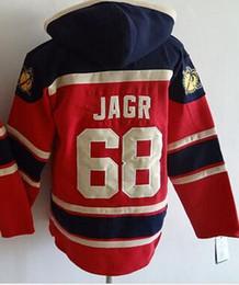 2016, Mens Ice Hockey Hoodies #68 Jaromir Jagr Red Hoodies
