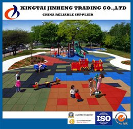 Wholesale China Factory Kindergarden Playground Garden Nursery Park Residential Area Color Rubber Matting Rubber Flooring tile JH