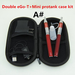 Electronic Cigarettes Double eGo T Starter Kit ego-t Batteries 650mAh 900mAh 1100mAh battery Mini Protank vaporizer vape pens case kits