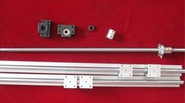 Wholesale 2 x SBR20 mm linear rail guides sets RM2005 mm Ballscrew End Mechined Ball Screws BK BF15 end support couplers